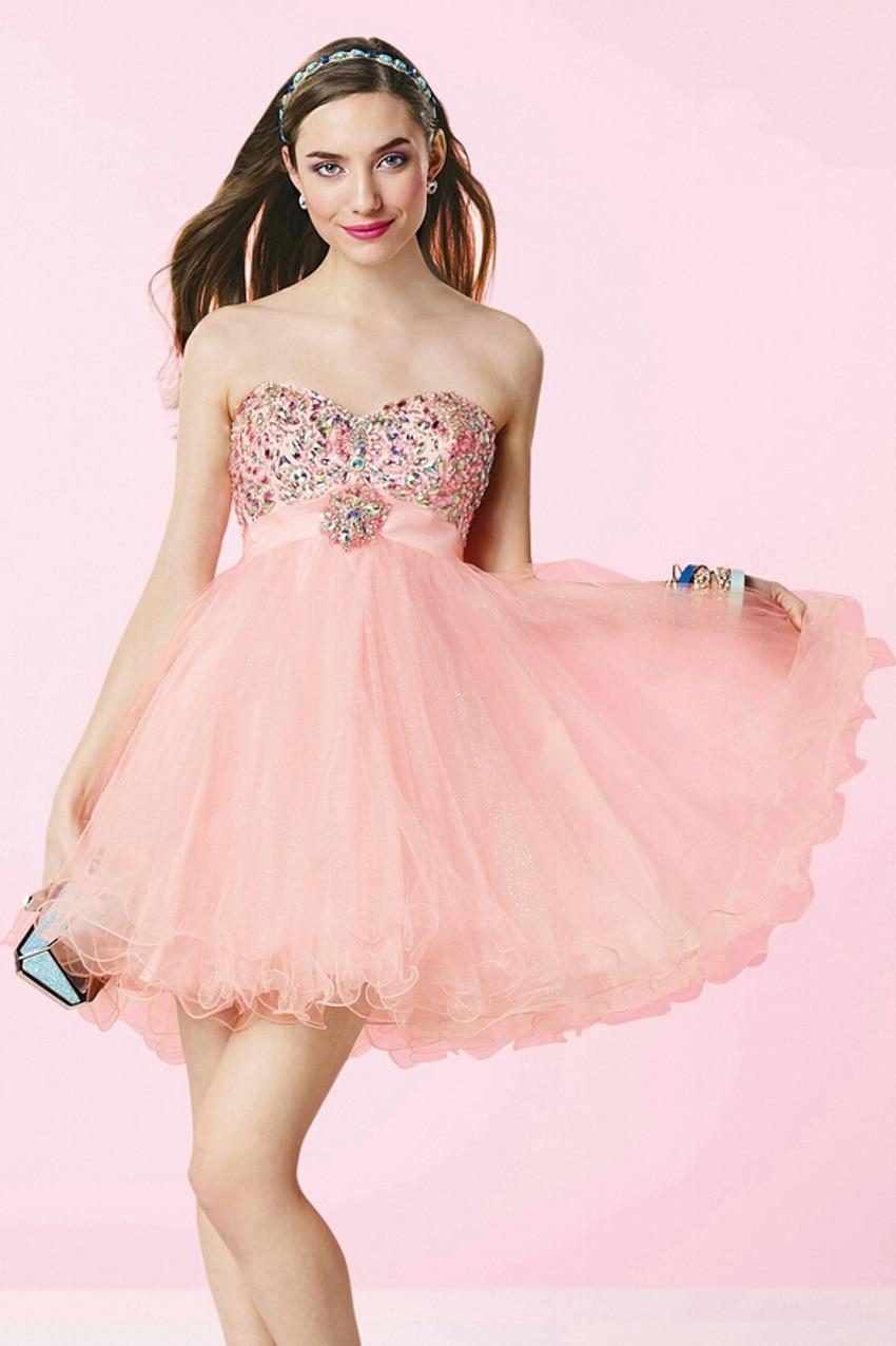 Contemporáneo Vestido Corto De Color Rosa Prom Inspiración - Ideas ...