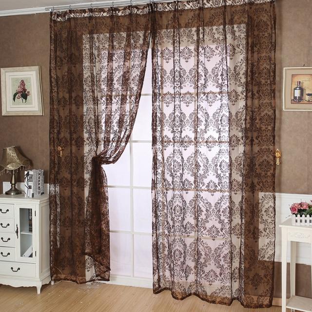 US $6.59 43% di SCONTO|Stile Classico europeo Tulle Tulle in tende  trasparenti per soggiorno camera da letto Schermi Balcone Pannello Della  Tenda Pura ...