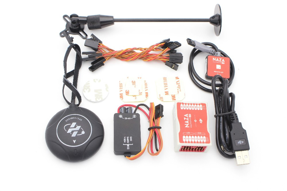 New Version M8N GPS+Original DJI Naza M Lite Multi Flyer Flight Control Controller w/PMU Power Module & LED & stand holder original naza gps for naza m v2 flight controller with antenna stand holder free shipping