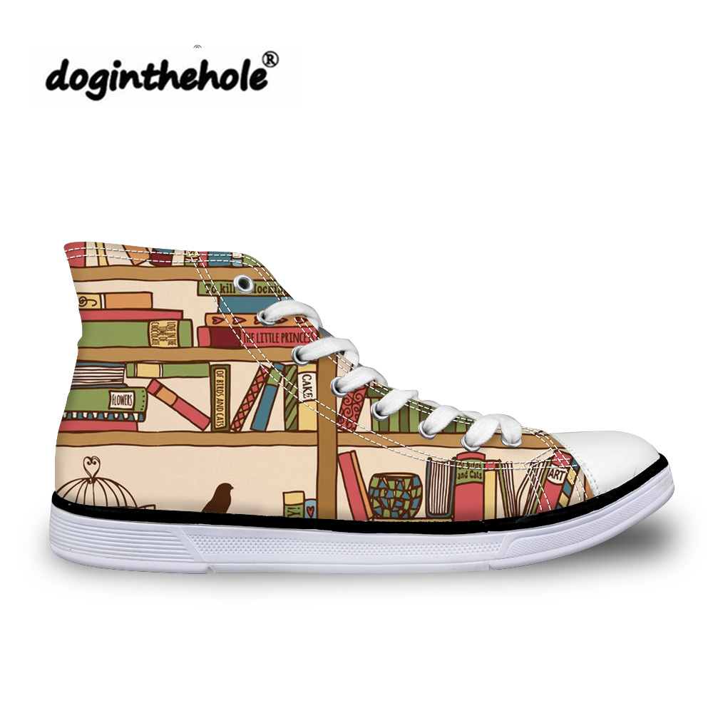 sale retailer 29fc7 c8dc9 doginthehole-Teenagers-Classic-Canvas-Shoes -Women-Funny-Books-Printing-Vulcanized-Shoes-for-Ladies-High-Top-Flats.jpg