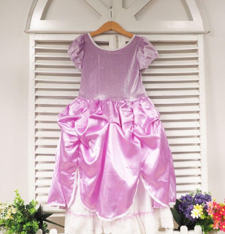 Tamaño 100 150, al por menor, niños Princesa Sofia vestido para niña ...