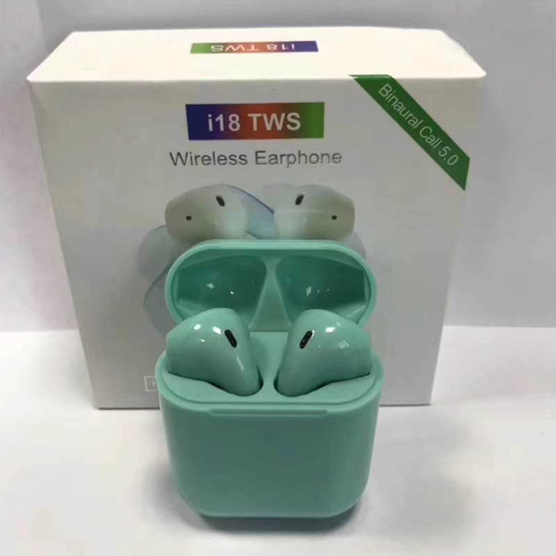 <font><b>2019</b></font> <font><b>i18</b></font> <font><b>TWS</b></font> 1:1 Wireless Bluetooth 5.0 3D Stereo Earphone Earbuds Touch Control For iPhone Xiaomi airdot PK i13 i10 i12 i88 image