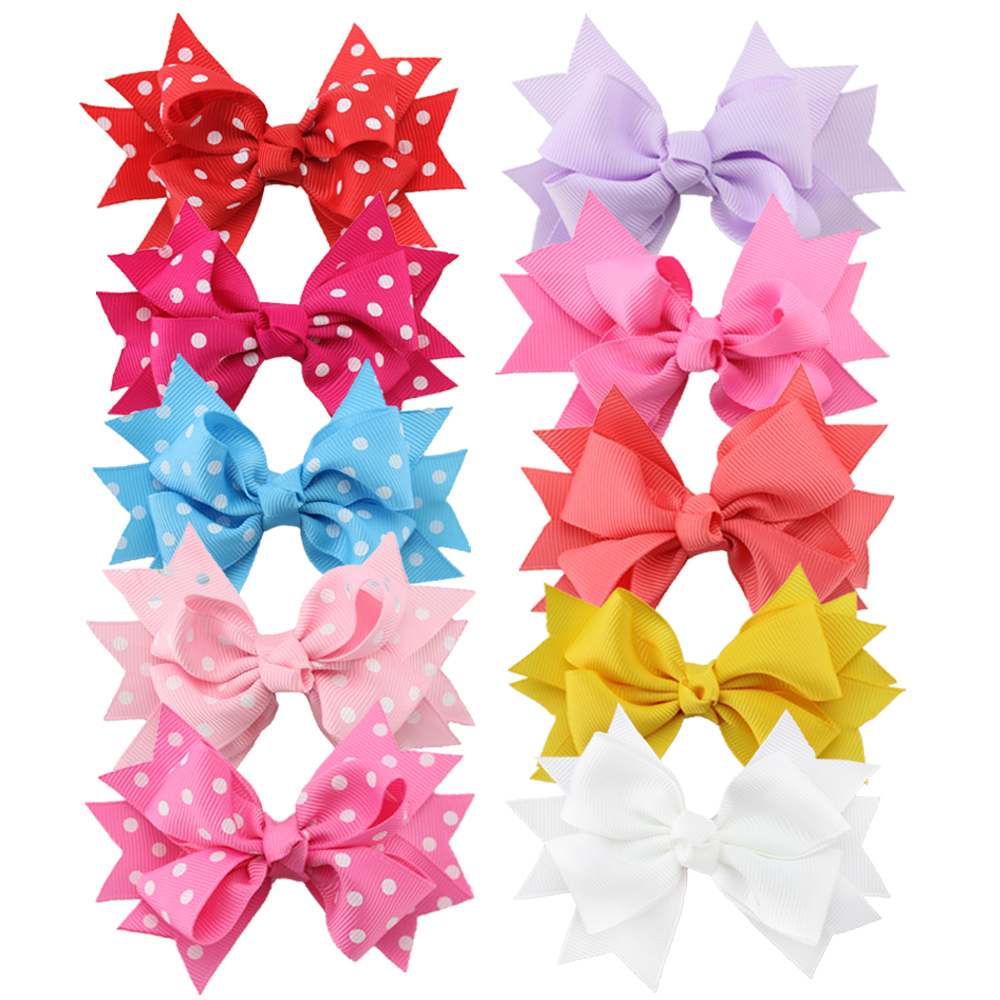 10pcs/set 3 Inch Korean Grosgrain Ribbon HairBow,Teens Hairbows Girl Hair Bows With Clip,Kids Hair Accessories 2542 3 5 inch grosgrain ribbon hair bow diy children hair accessories baby hairbow girl hair bows without clip 16pcs lot