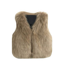 Baby Girl Winter Clothes Artificial Fur Vest Coats Warm Waistcoat Kids Sleeveless Jacket Newborn Outerwear Clothing For #YL5(China)