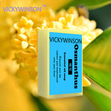 VICKYWINSON Osmanthus Flower Petals Soap Thailand Essential Handmade Bath Face Washing Whitening Moisturizing Freckle