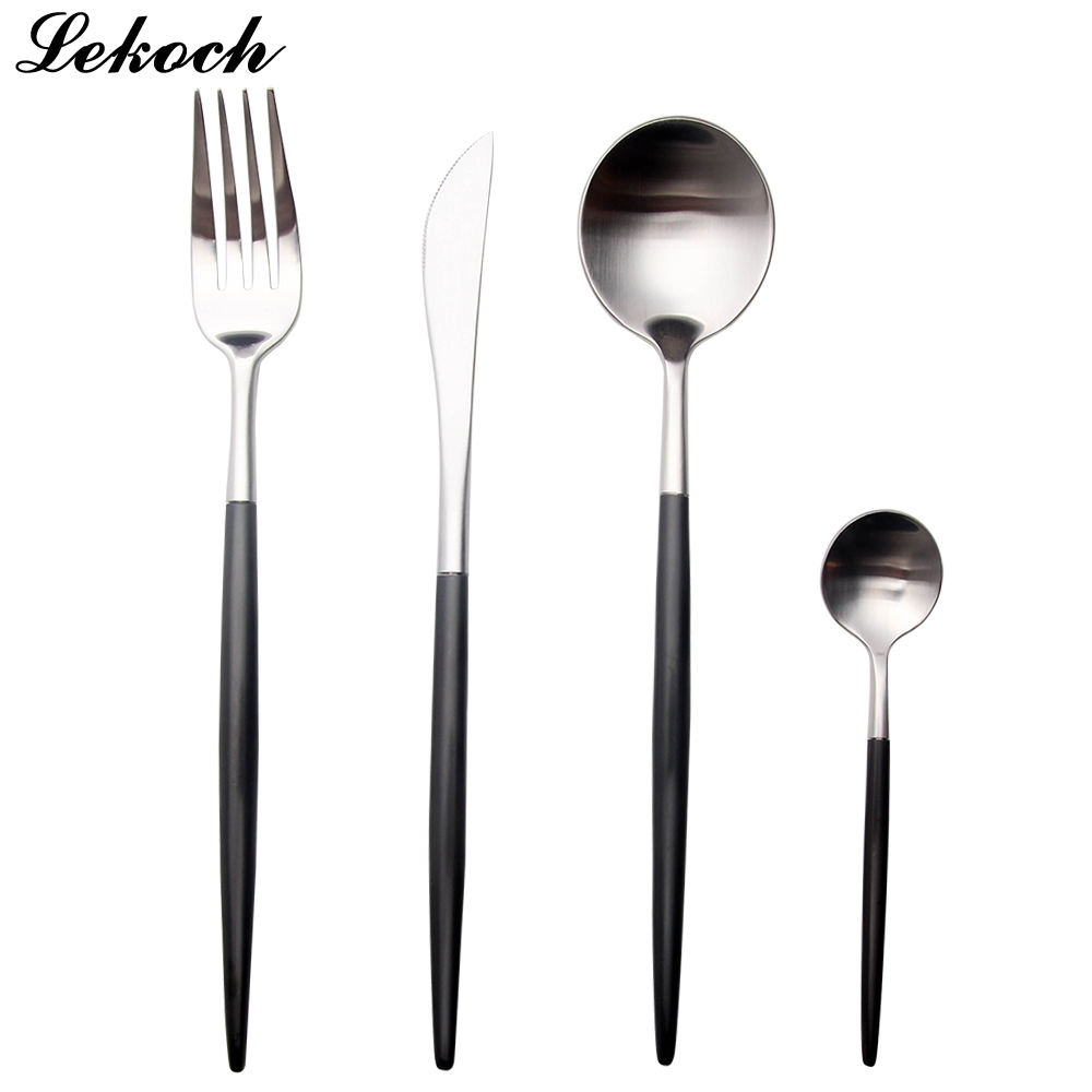 LEKOH 8 χρώματα 18/10 μαύρο μαχαιροπίρουνο - Κουζίνα, τραπεζαρία και μπαρ - Φωτογραφία 6