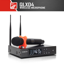 YUEPU QLXD24 Verdadeira Diversidade SISTEMA de MICROFONE SEM FIO UHF PROFISSIONAL Cordless Handheld Dual Antenas Para Performance de Palco