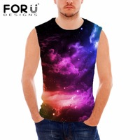 FORUDESIGNS Funny Superstar Universe Space Men S Tank Top Summer Sleeveless Fitness Bodybuilding Tank Tops For