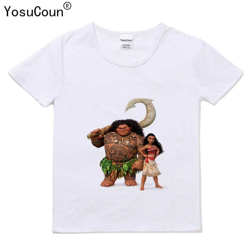 Vaiana T shirt Girls T-shirt For Girl Shirts Boys Short Sleeve For Kids Tops Girls T shirt For Baby Boy Kid Girls Vaiana T110X