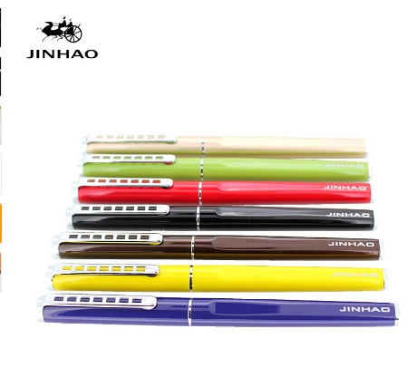 Jinhao 699 Smooth Pure White Fountain Pen With Silver Ladder Clip 0.5mm Nib Metal Inking Gift Pens For Writing Fountain Pen