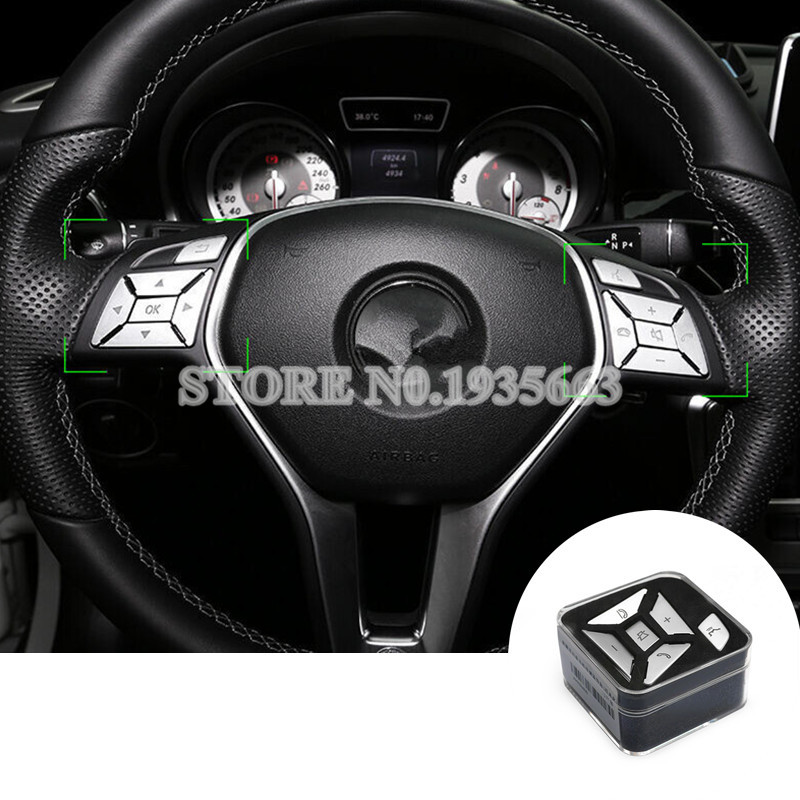 Interior Steering Wheel Button Trim Cover For Benz ML W166 2012-2015 GL X166 2013-2015 женское бикини gl brand 2015 fn14670