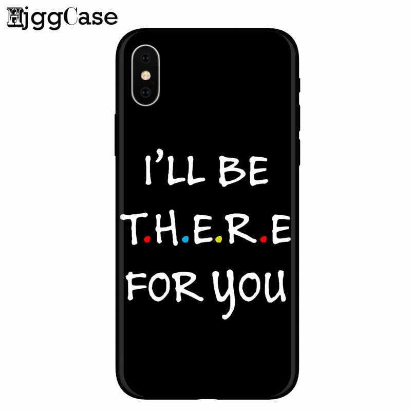 سنترال بيرك كوفي فريندز tv show كيف أنت دوين أسود سيليكون الهاتف حقيبة لهاتف أي فون 6 6S 7 8 Plus 5 5s SE X XS MAX XR