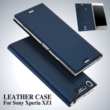 Case Card-Holder Flip-Stand XZ1 Sony Xperia Luxury Wallet-Cover for Funda DUX DUCIS Coque