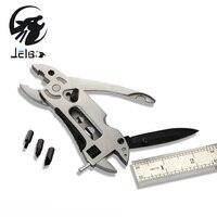 Jeblo Outdoor Multitool Pliers Pocket Knife Screwdriver Set Kit Adjustable Wrench Jaw Spanner Repair Survival Hand