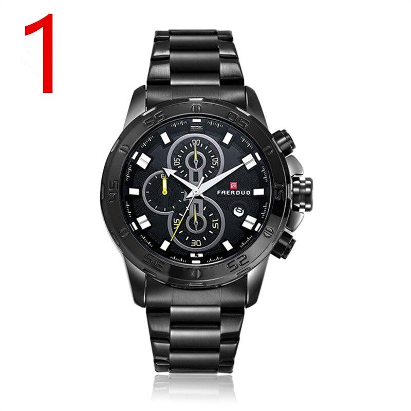 wu's Explosion models steel chain watch quartz watch waterproof male student male Valentines Day gifts цены