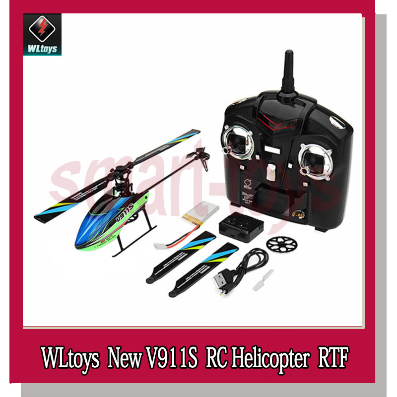 WLtoys V911S 2 4G 4CH 6 Aixs Gyro Flybarless RC Helicopter RTF 2018 New Hot RC