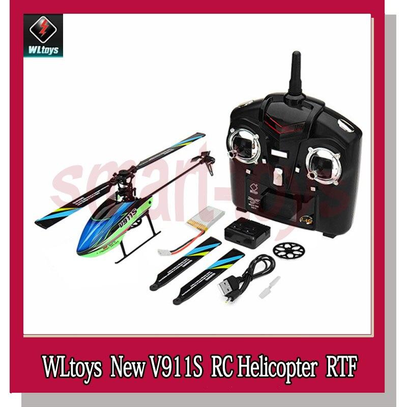 WLtoys V911S 2.4g 4CH 6 Aixs Gyro Flybarless RC Helicopter RTF 2018 Nieuwe Hot RC Afstandsbediening Helikopter-in RC Helikopters van Speelgoed & Hobbies op  Groep 1