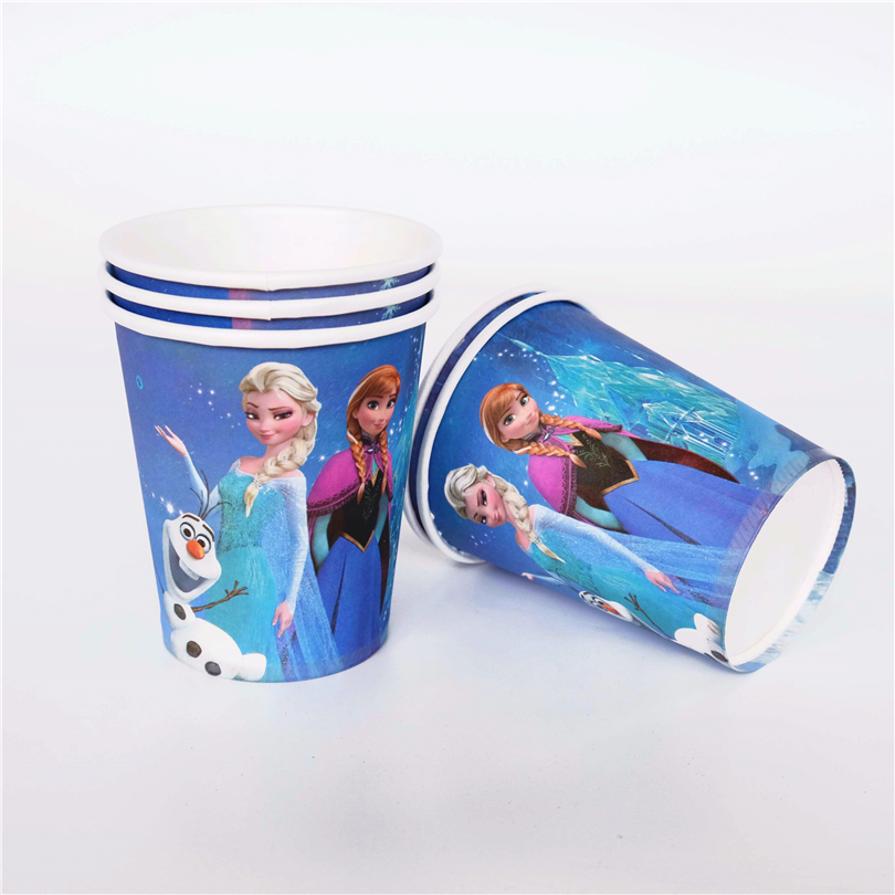 10pcs/lot paper <font><b>cup</b></font> <font><b>Princess</b></font> Anna Elsa Kids Birthday <font><b>party</b></font> supply event <font><b>party</b></font> supplies <font><b>party</b></font> Decoration Set
