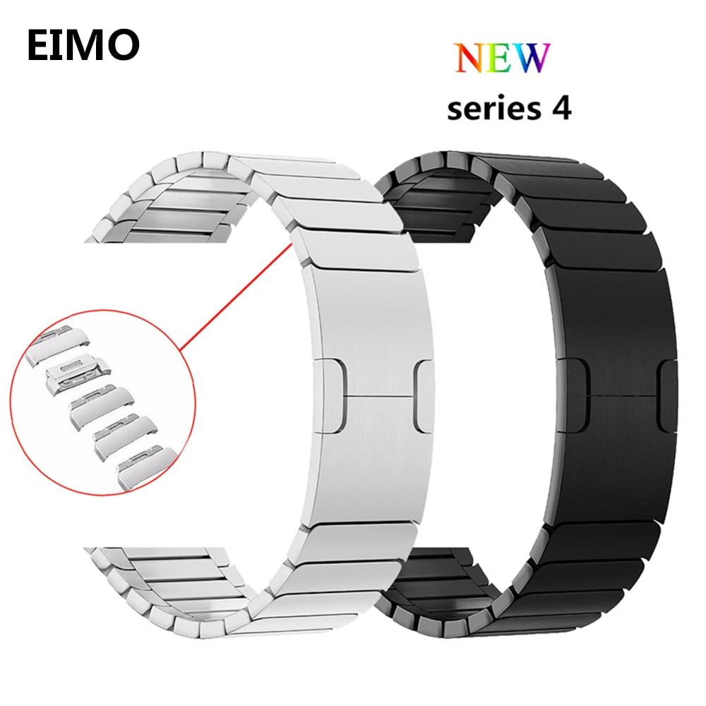 Lien Bracelet pour apple watch bande 4 44mm 40mm D'origine Véritable réel Bracelet En Acier Inoxydable pour iwatch Série 4 bracelet