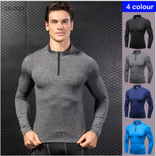 ФОТО dlixzi mens t shirts fashion 2018 summer compression shirt long sleeve gyms clothing bodybuilding muscle shirts large sizes tops