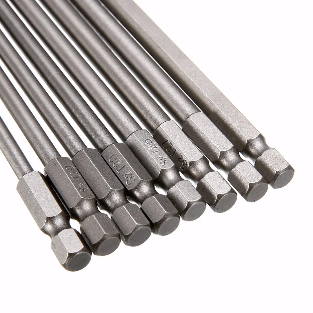 8db-os mágneses Torx csavarhúzó-készlet, 150 mm hosszú acél - Kézi szerszámok - Fénykép 4