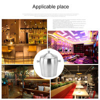 Stainless Steel ices Bucket Double Layer Cool for Champagne Wine Wedding Party FPing
