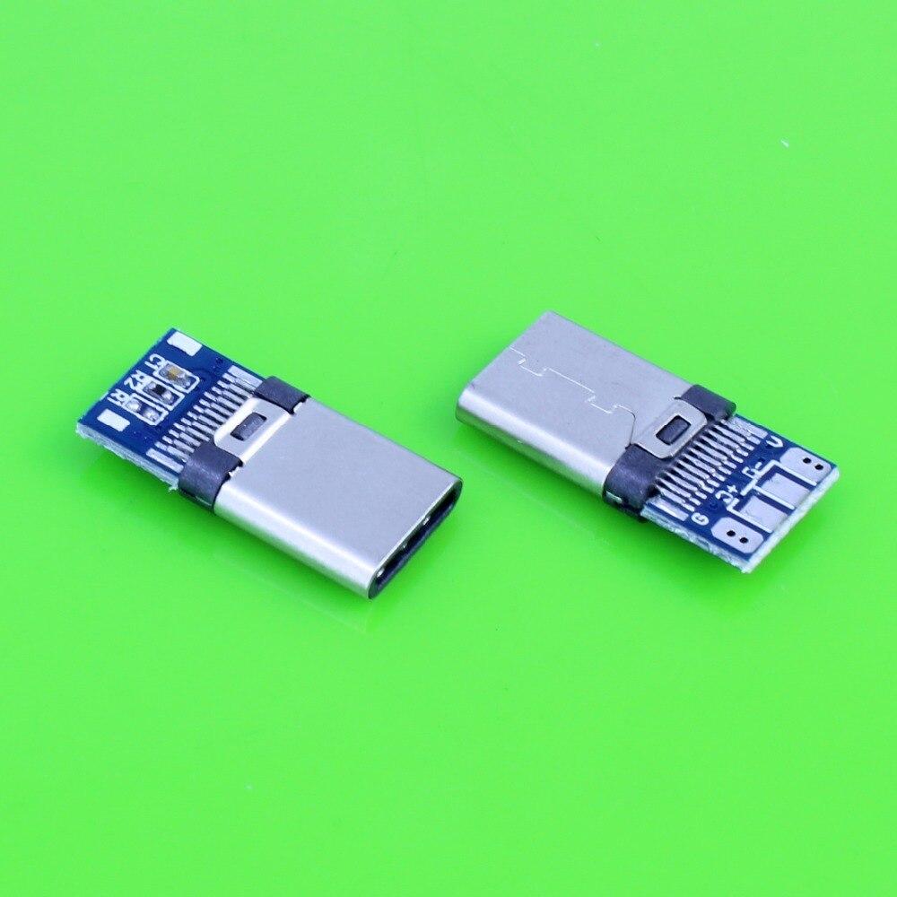 USB 3.1 Type C USB-C Male welding soldering Plug Connector SMT type Сварка