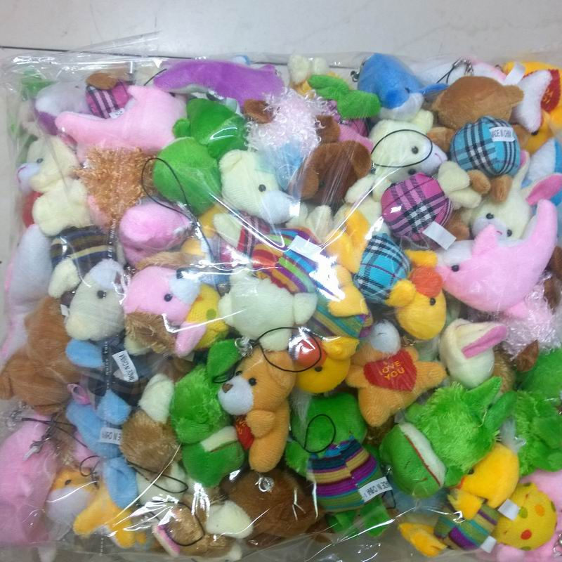 Bulk 100pcs/lot Collection Of Plush Animals Various Styles Package Dolls For Phone/Key/Bag Pendants Soft Promotion Gifts