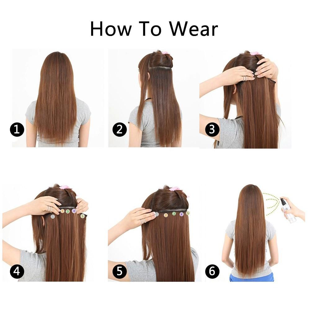 5 Piecelot Xicks Synthetic 5 Clip In Hair Extension 50cm Hair