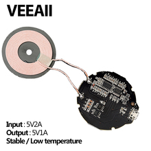 VEEAII Wireless Charger PCBA For iPhone8/X input 5V/2A QC2.0 Output 5v1a DIY low temperature Micro USB for sumsung s7/s8/s9