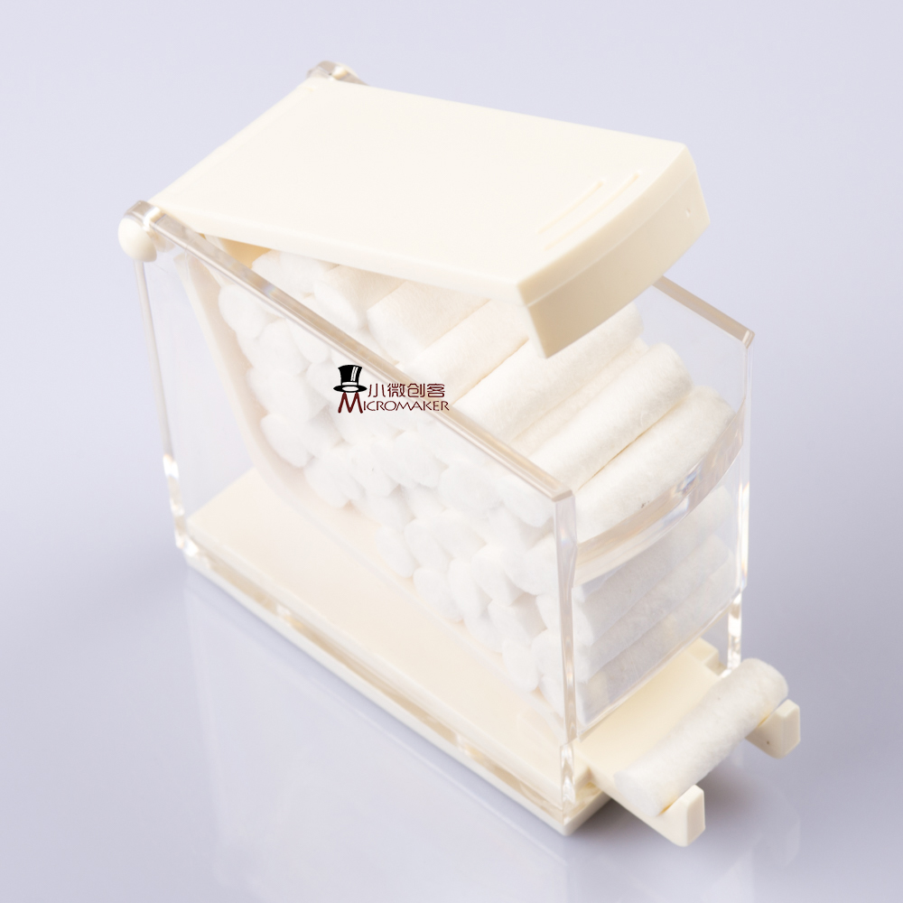 1PCS Dentist Cotton Roll Dispenser Holder Press Type Case White Dental Products Storage Box For Dental Orthodontic New 2018
