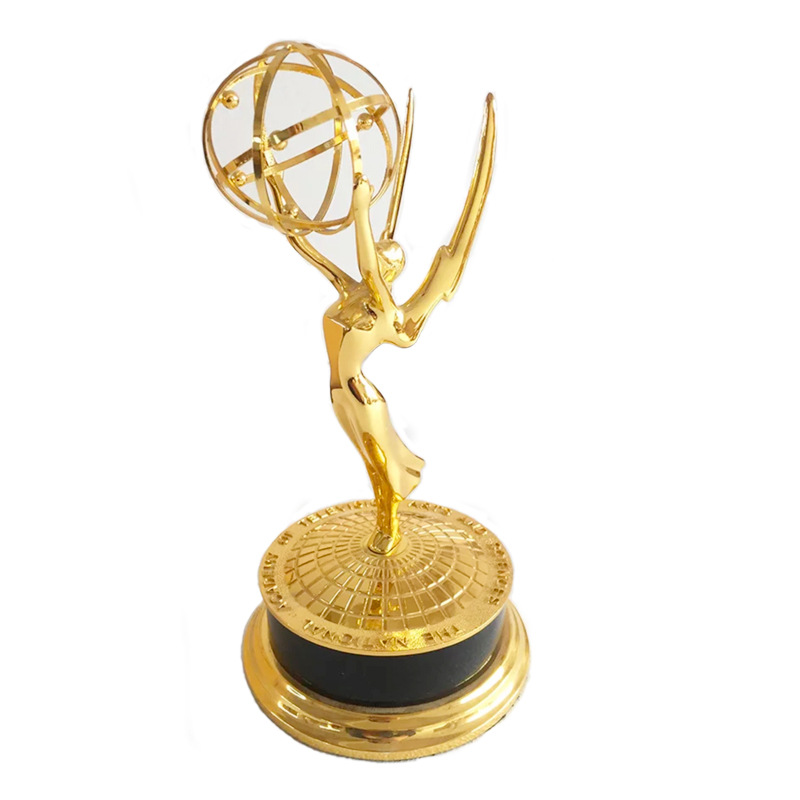 Real Life Size 29 39cm 1:1 Emmy Trophy Academy Awards of Merit 1:1 Metal Trophy Home Decoration Accessories R248