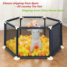 Enclos Portable pour bébés, clôtures en plastique pour enfants, barrières de sécurité pliantes pour piscine à balles, pour voyage avec panier de basket