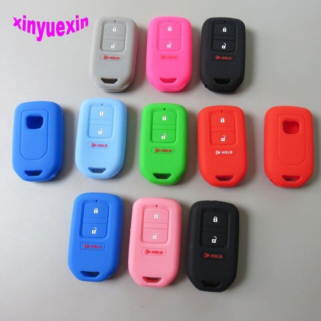 Xinyuexin силиконовый для ключа автомобиля чехол для Honda Vezel City Civic Jazz BRV BR-V HRV дистанционный ключ куртка автомобильный стиль 2 + 1 3 кнопки