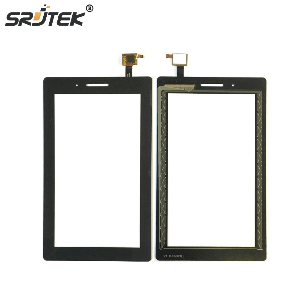 Srjtek For Lenovo TAB 3 Essential 710F Tab-3710F TB3-710F Touch Screen Digitizer Sensor Outer Glass Replacement Parts Black bork b800