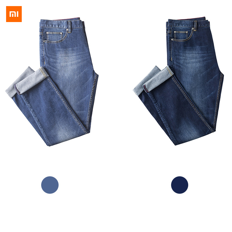 New Xiaomi Mijia Youpin DMN stretch straight leg jeans male Flexible and comfortable breathable four level
