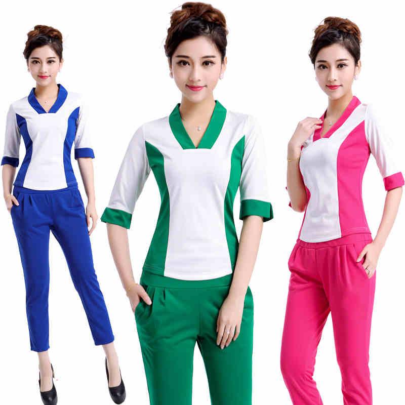 Beauty Fashion Group: SPA Salon Work Suit Trousers Beauty Fashion Overalls