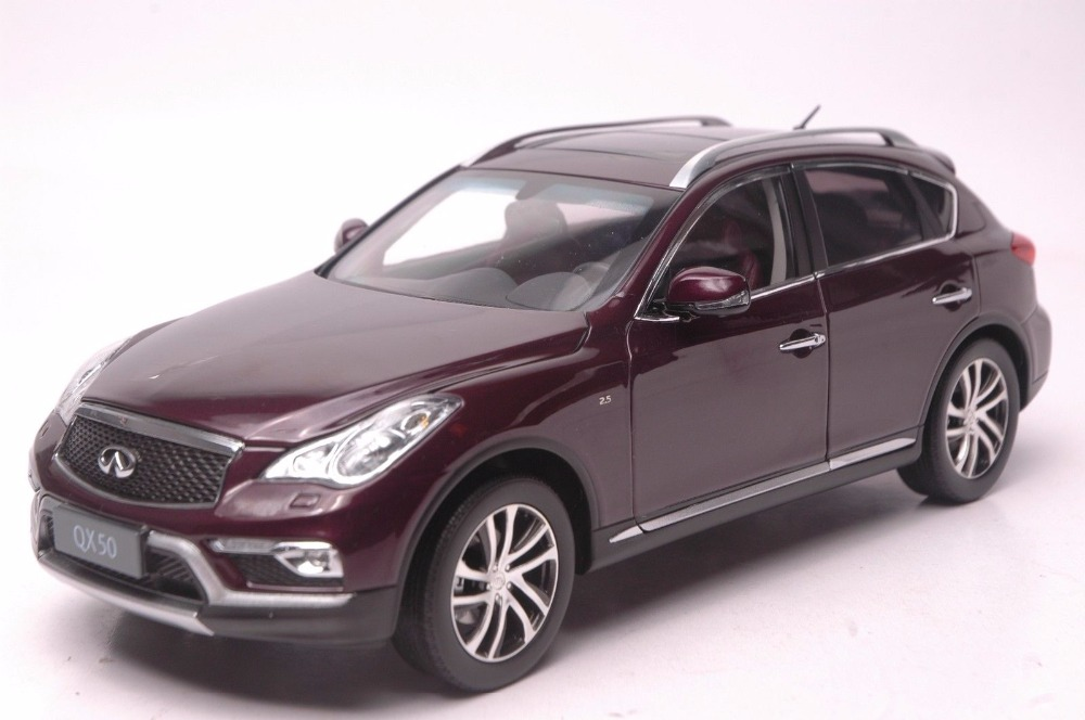 1:18 Diecast Model for Infiniti QX50 2016 Red SUV Alloy Toy Car Miniature Collection Gift Ex25 Ex 1 18 vw volkswagen teramont suv diecast metal suv car model toy gift hobby collection silver