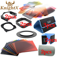 KnightX 24 Filter Graduated ND Set color cokin p series for Nikon Canon EOS 1200D lens 52mm 55mm 58mm 62mm 67mm 72mm 77mm 82mm