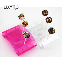 LIXYMO 20 holes Cake pop Lollipop Stands/Display/Hodler/Base/Shelf arc shaped  DIY bakeware cake tools acceserries PS material
