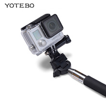 Self-timer Monopod For Gopro Equipment Extendable Handheld Selfie Stick to Mount Adapter for Gopro Hero four three+ three 2 CAM