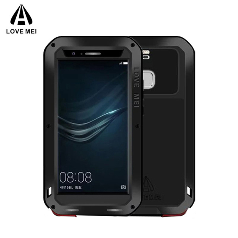 LOVE MEI Aluminum Metal Case For Huawei P9 / P9 Plus Cover Armor Shockproof Life Waterproof Case For Huawei P9 P9 Plus Coque фото