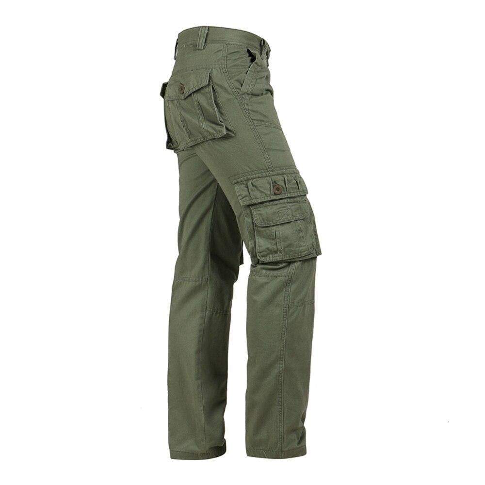 Gerade Mens Military Cargo Hosen Armee Grün Multi-tasche Kausalen Lange Baggy Lose Taktische Armee Hose Plus Größe 40 Jungen Kleidung
