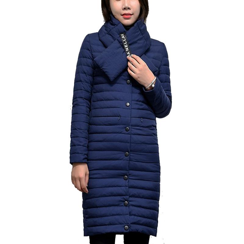 Nouvelle plus la taille s-6XL Manteau Ultra chaud Duvet de Canard blanc veste x-Long Manteau Femme Mince Solide Vestes D'hiver Manteaux Parkas rembourré