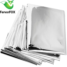 New Outdoor Water Proof Emergency Survival Rescue Blanket Foil Thermal Space First Aid Sliver Rescue Curtain Military Blanket cheap FervorFOX Emergency Blankets