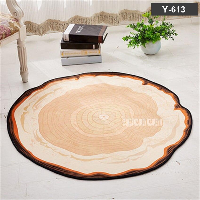 X57 tapis doux maison moderne tapis de sol anti-dérapant 100 CM tapis rond salon chambre tapis étude chambre chaise tapis enfants tapis