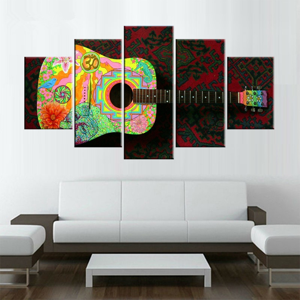Canvas hd prints poster home decor wall art 5 pieces color for House decoration pieces