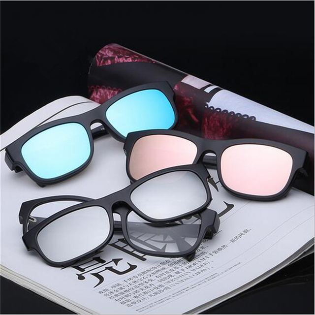 761d17527c Magnetic Clip on Polarized Sunglasses 2 In 1 Opical Glasses Frame Prescription  Eyeglasses Spectacles Optional Color Women Men