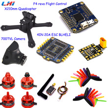 new X210 214mm 4mm Carbon Fiber FPV Racing Frame+F4 REVO Flight control+4IN mini20A blheli ESC+DX2205 cw/ccw w/ Matek PDB-XT60