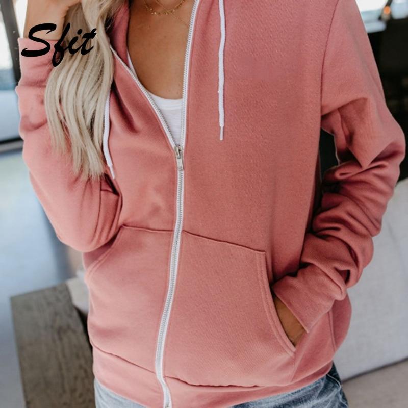 Sfit Jacket Sweatshirt Coat Zipper-Guard-Dress Running-Workout Autumn Sports Women's